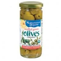 Mediterranean Organics Org Green Stuffed Jalapeno Olives (12x8.5 Oz)