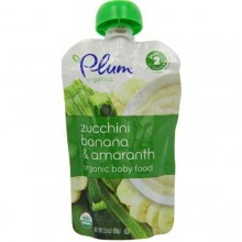Plum Organics Zucchini Banana & Amaranth Yoghurt (6x3.5 Oz)