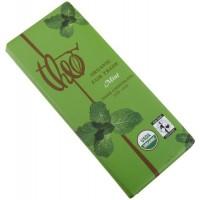 Theo Chocolate Dark Chocolate Mint Bar (12x3Oz)