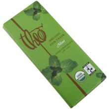 Theo Chocolate Dark Chocolate Mint Bar (12x3Oz)