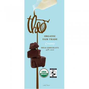 Theo Chocolate Milk Chocolate 45% Cacao Bar (12x3Oz)