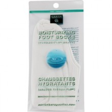 Earth Therapeutics Moist Foot Sock White (1x1PR )