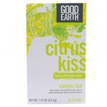 Good Earth Teas Decaf Citrus Kiss with Lemongrass Green Tea (6x18 CT)