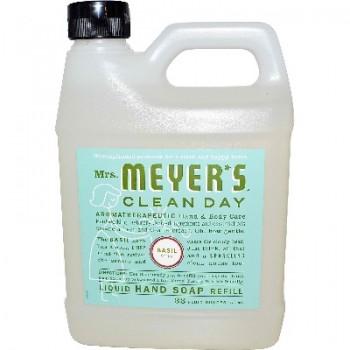 Mrs Meyers Liquid Hand Sp Refil Basl (6x33OZ )