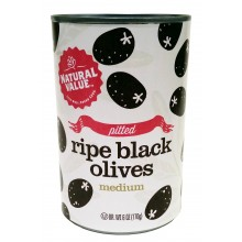 Natural Value Med Pittd Black Olives (24x6OZ )