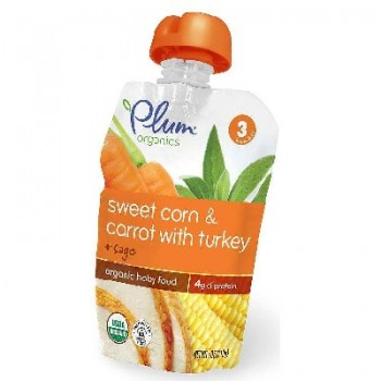Plum Organics St3 Corn ot Trk (6x4OZ )