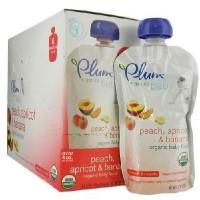 Plum Organics Peach/Aprct/Ban (6x4OZ )