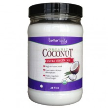 Better Body Foods Coconut Oil, Extra Virgin (6x28 OZ)