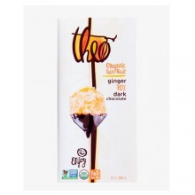 Theo Chocolate Ginger, Dark Chocolate 70% (12x3 OZ)