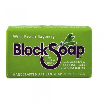 Block Soap Bar West Beach Bayberry (12x4.5 OZ)