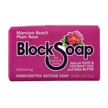Block Soap Bar Mansion Beach Plum Rose (12x4.5 OZ)