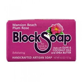 Block Soap Bar Mansion Beach Plum Rose (12x4.5 OZ)