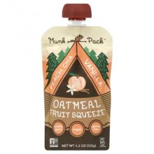 Munk Pack Oatmeal Fruit Squeeze Peach Chia Vanilla (6x4.2 OZ)
