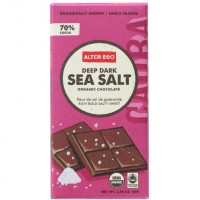 Alter Eco Deep Dark Sea Salt Organic Chocolate (12x2.82 OZ)