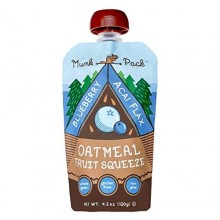 Munk Pack Oatmeal Fruit Squeeze Blueberry Acai Flax  (6x4.2 OZ)