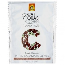 Gaea Cat Cora's Kitchen Snack Pack Pitted Kalamata Olives (8x2.3 OZ)