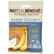 Matt's Munchies Organic Fruit Snack Banana Coconut (12x1 OZ)