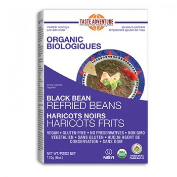 Taste Adventure Dry Black Refried Beans  (1x10 LB  )