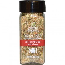 Simply Organic Organic Spice Right Everyday Blends, All-Purpose Salt-Free (6X1.8 OZ)