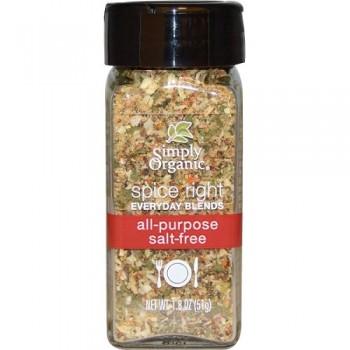 Simply Organic Organic Spice Right Everyday Blends, All-Purpose Salt-Free (6X1.8 OZ)