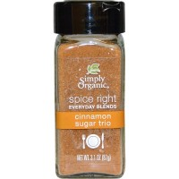 Simply Organic Organic Spice Right Everyday Blends, Cinnamon Sugar Trio (6X3.1 OZ)