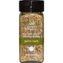 Simply Organic Organic Spice Right Everyday Blends, Garlic Herb (6X2 OZ)