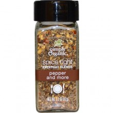 Simply Organic Organic Spice Right Everyday Blends, Pepper And More (6X2.2 OZ)
