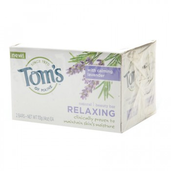 Tom's of Maine Relaxing Beauty Bar  (1x2 PACK)