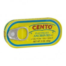 Cento Flat Fillets of Anchovies in Olive Oil (25x2 OZ)