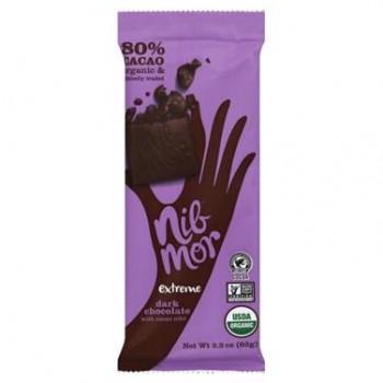 Nibmor Organic Extreme 80% Dark Chocolate  (12x2.2 OZ)