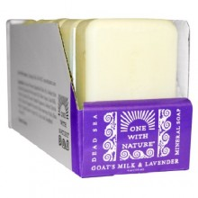 One With Nature O.W.N. Dead Sea Mineral Soap, Goat'S Milk & Lavender (6X4 OZ)