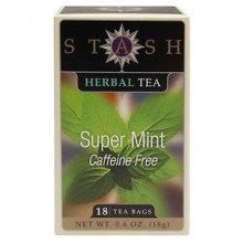 Stash Herbal Tea Super Mint  (6x18 BAG )