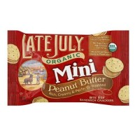 Late July Organic Bite Sized Peanut Butter Crackers (4x8 PACK)