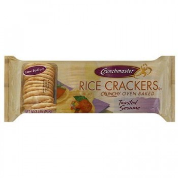 Crunchmaster Rice Crackers Toasted Sesame (12x3.5 OZ)
