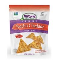 Milton's Nacho Cheddar Baked Chips (12x5.5 OZ)