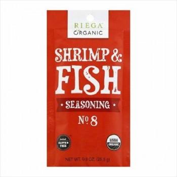 Riega Foods Shrimp & Fish Seasoning Gluten Free (8X0.9 OZ)