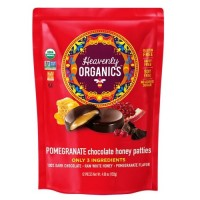 Heavenly Organics Chocolate Honey Pattie Pomegranate (6x4.66 OZ)