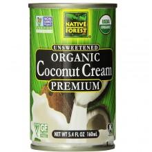 Native Forest Organic Premium Coconut Cream Unsweetened  (12x5.4 OZ)