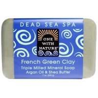 One With Nature O.W.N. Triple Milled Mineral Soap, French Green Clay (6X7 OZ)