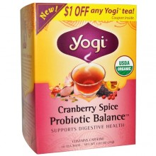 Yogi Tea Cranberry Spice Probiotic Balance  (6x16 BAG )