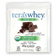 Tera's Whey Dark Chocolate Organic Fair Trade Whey Protein (12x1 OZ)