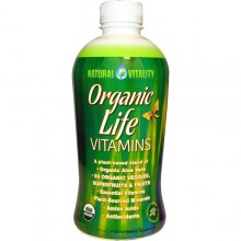 Natural Vitality Organic Life Vitamins Liquid  (1x30 OZ)