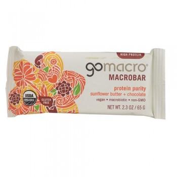 Go Macro Sunflower Butter And Chocolate Macrobar (12x2.3 OZ)