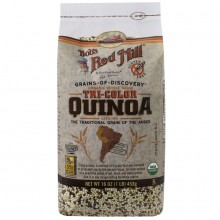 Bob's Red Mill Organic Whole Grain Tri Color Quinoa  (4x16 OZ)