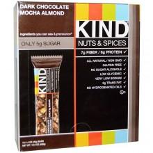 Kind Nuts & Spices Dark Chocolate Mocha Almond Bar  (12x1.4 OZ)