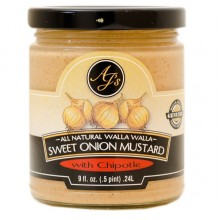 AJ's Natural Walla Walla Sweet Onion Mustard with Chipotle (6x9 OZ)