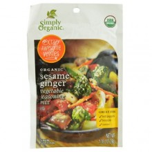 Simply Organic Vegetable Seasoning Mix Sesame Ginger (12X1 OZ)