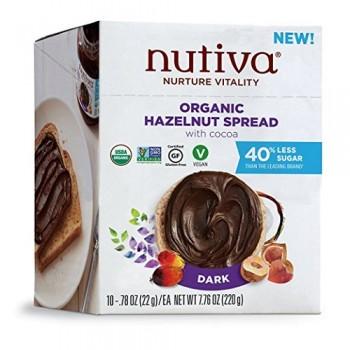 Nutiva Organic Hazelnut Spread, Dark (10X0.78 OZ)