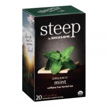 Bigelow Steep Organic Mint Herbal Tea Caffeine Free (6x20 BAG )