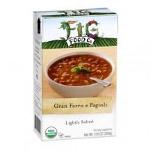 Fig Food Company Organic Gran Farro e Fagioli Soup Lightly Salted (6x14.5 OZ)